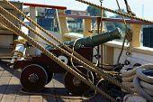 A Cannon On A Tall Ship