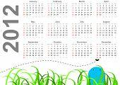 Full 2012 calendar