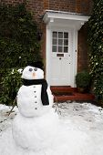 Snowman And House