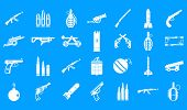 Постер, плакат: Weapons Ammunition Icon Set Simple Set Of Weapons Ammunition Vector Icons For Web Design Isolated O