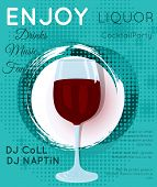 Cocktail Illustration On Bright Contemporary Background poster