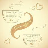 Special offer for real connoisseurs coffee, vector illustration