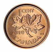 Canadian maple leaf penny