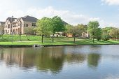 Lakeside Newly Built Homes Near Urban Park In America poster