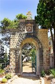 stock photo of carmelite  - entrance to the Carmelite Monastery in Haifa - JPG