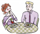 Eating Couple