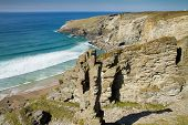 The Cornish coastline near Treknow