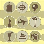 set tourism icons