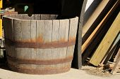 Wooden Fruit Barrel