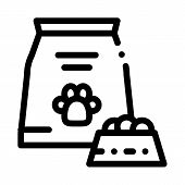 Animal Feed Icon Vector. Outline Animal Feed Sign. Isolated Contour Symbol Illustration poster