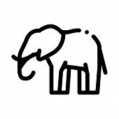 Elephant Icon Vector. Outline Elephant Sign. Isolated Contour Symbol Illustration poster