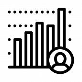 Candidate Statistics Icon Vector. Outline Candidate Statistics Sign. Isolated Contour Symbol Illustr poster