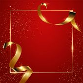 Red Gradient Background Vector Illustration. Elegant Colorful Wallpaper Design. Creative Backdrop Wi poster