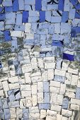blue and colourless glass mosaic