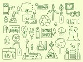 Energy Icon. Electricity Nature Battery Recycle Elements Factory Production Water Energy Globe Fuel  poster