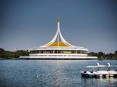 Bangkok, Thailand-november ,2018:pavilion In Suan Luang Rama Ix Public Park In Bangkok, Thailand . R poster