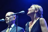Jazz band Pink Martini on the stage