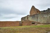 Inca ruins at Ingapirca archeological site in Canar province near Cuenca. Largest Inca ruins in Ecua poster