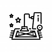 Black Line Icon For  Carpet-spa Carpet Spa Mattress  Vacuum-cleaner Clean poster