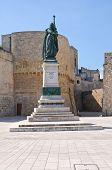 War memorial. Otranto. Puglia. Italy.