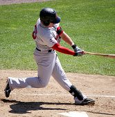 : Portland Sea dogs' outfielder Byrce Brentz swings at a pitch