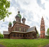 Yaroslavl, The Church Of St. John The Baptist In Tolchkovo. Beautiful Old 17th Century Red Brick Tem poster