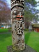 picture of indian totem pole  - Totem pole carved from cedar Thunderbird Park Victoria BC Canada - JPG