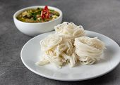 Green Curry With Rice Noodles , Thai Rice Vermicelli, Thai Food poster