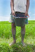 Rice Farmer In Bali