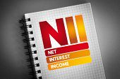 Nii - Net Interest Income Acronym, Business Concept Background poster