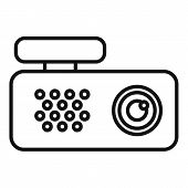 Spy Dvr Recorder Icon. Outline Spy Dvr Recorder Vector Icon For Web Design Isolated On White Backgro poster