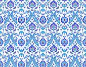 Islamic Flower Pattern On White