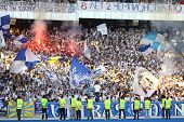 Fc Dynamo Kyiv Team Supporters Show Their Support