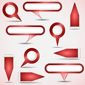 Set Of Red Pointers