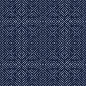 Vector Illustration Of White Scribbled Warped Rhombuses On Indigo Background. Scribble Texture, Text poster