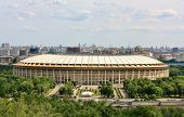 picture of olympic stadium construction  - Luzhniki a large arena view from Sparrow Hills - JPG