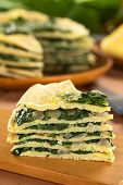 Savory Crepes Layered with Chard (Mangold)
