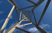 Composition Of An Electrin Pylon Called Infinite Perspective poster