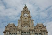 Liverpools Historic Liver Building And Clocktower, Liverpool, England, United Kingdom poster