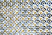 Portuguese Tiles . Seamless Patchwork Tile With Victorian Motives. Majolica Pottery Tile, Blue And W poster