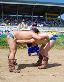Buryat (mongolian) Wrestlers