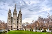 The Salt Lake Temple, A Mormon Temple In Salt Lake City - Utah, United States poster
