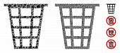Junk Composition Of Irregular Items In Variable Sizes And Shades, Based On Junk Icon. Vector Irregul poster