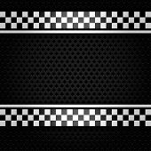 picture of orifice  - Metallic perforated gray sheet - JPG