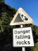 Rockfall Warning Sign