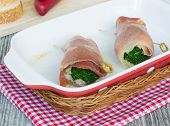 Snack Rolls From Jamon And Broccoli