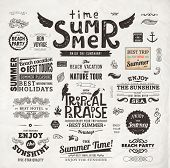 image of nostalgic  - Retro elements for Summer calligraphic designs  - JPG