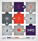 Info graphic design, paper sticks, template