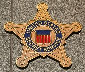 US Secret Service emblem on fallen officers memorial in Brooklyn, NY