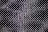 stock photo of smut  - Fabrics artificial black colour close - JPG